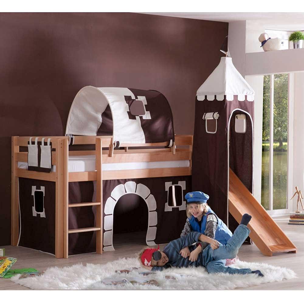 Ein Bett mit Rutsche sorgt für mehr Spaß im Kinderzimmer!