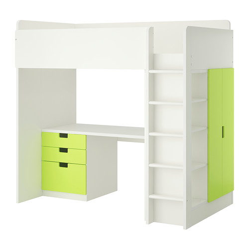 das stuva hochbett von ikea funktionalit t vereint mit schickem design. Black Bedroom Furniture Sets. Home Design Ideas
